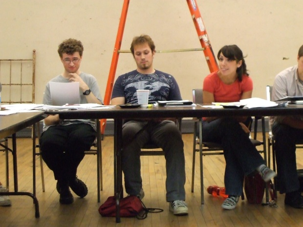 "Actors at the first read-thru of John Marabello's ""The Nerds of the Century"""